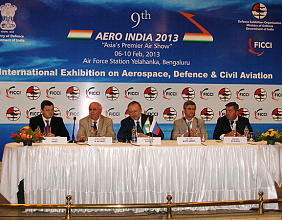 Rosoboronexport at AERO INDIA 2013: a strong positive impetus to the relations in the military-technical sphere