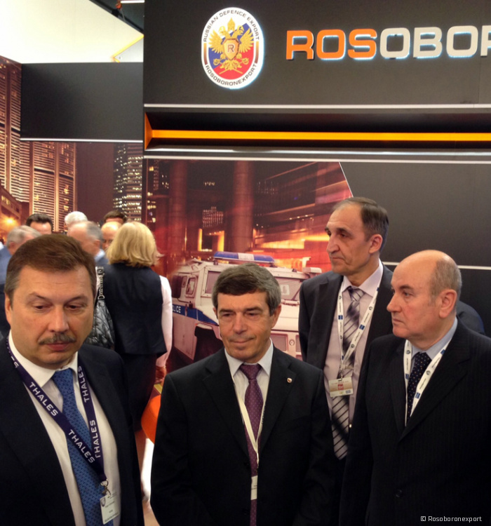 Rosoboronexport, Russia introduced a special equipment and weapons on display in Paris