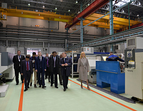 Rosoboronexport and Almaz – Antey Corp. show innovation technology park to the delegation of Indian Ministry of Defence