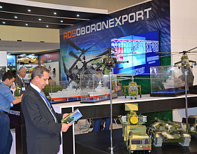 Rosoboronexport at the debut ADEX 2014 exhibition